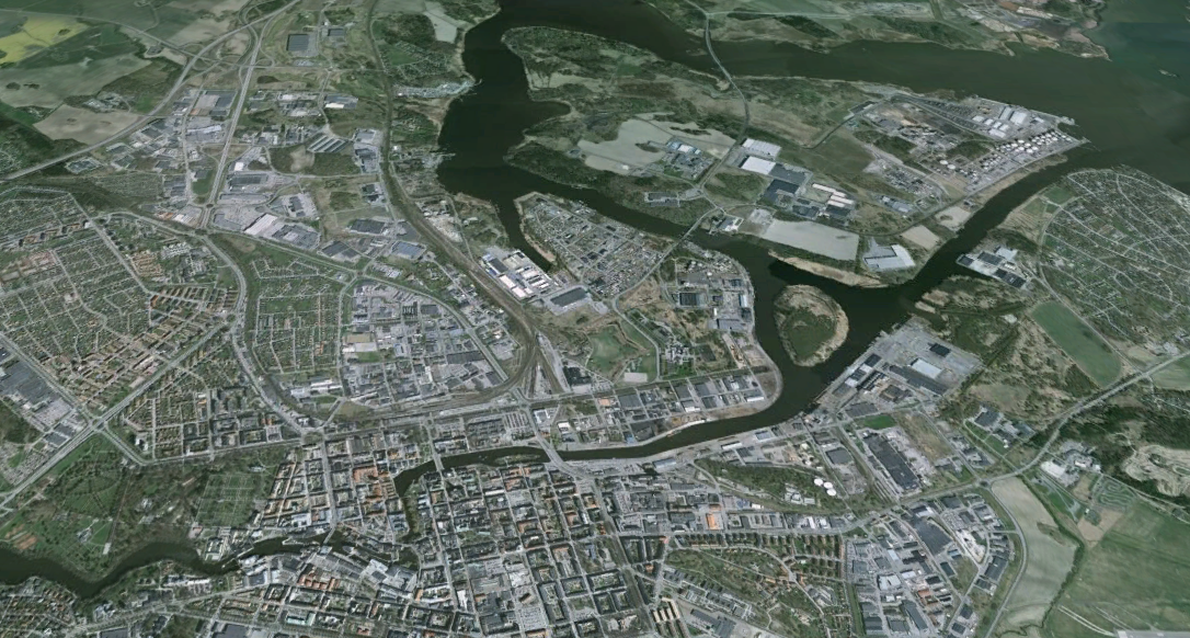 Areal photo of Norrkoping